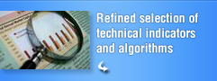 Refined selection of technical indicators and algorithms