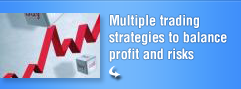 Multiple trading strategies to balance profit and risk
